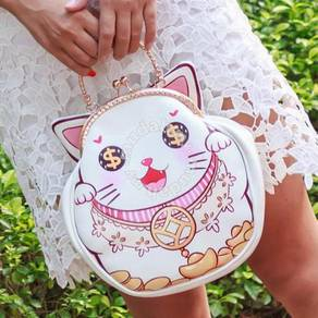 Fortune cat dinner prom handbag slingbag bag