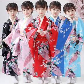 Japan kimono female kid girl traditional costume