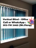Office Vertical Blind - with install 43AC