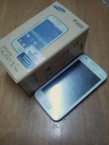 Samsung galaxy v plus(tempered glass dan body cove