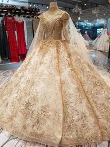 Gold wedding bridal dress gown RB1852
