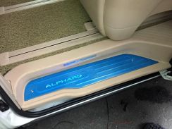 Toyota alphard 03 ahn10 led door side step plate