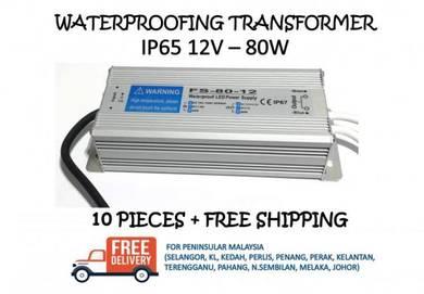 Waterproofing power supply ip65 12v 80w