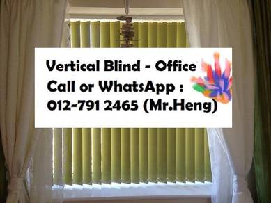 New Office Vertical Blind - with install 56AK