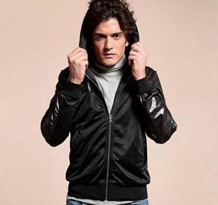J9139 BLACK STYLiSH HOODIE SWEATER CASUAL JACKET