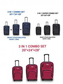 Polo cotton polyester travel luggage 3 in 1 set