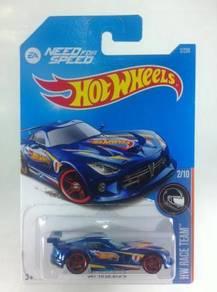 Hotwheels 2016 NFS SRT Viper GTS-R #2 Blue