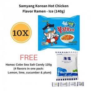 Samyang Ramen (Ice )(10 x 140g) FREE Cobe Candy