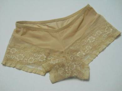 U184-2 Brown Low Waist Shorts Women Underwear