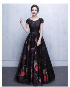 Black prom wedding bridal bridesmaid dress RBP0160