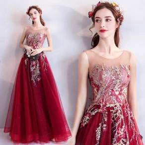 Red prom bridesmaid wedding gown dress RBP0783