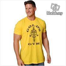 Gold Gym Yellow SLIM FIT Shirt