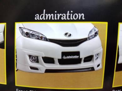 Toyota wish admiration bodykit with paint pu