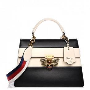GUCCI Calfskin Large Queen Margaret Top Handle Bag