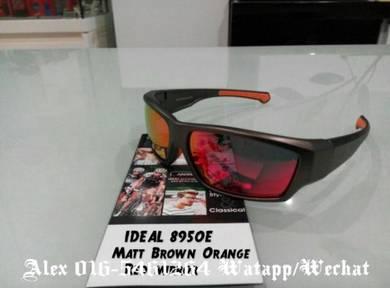 IDEAL SUNGLASSES (8950E brown orange red mirror)