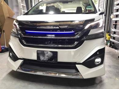 Vellfire v 30 modelista bodykit w paint body kit