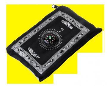 Sejadah Travel Berkompas / Prayer Mat with Compass