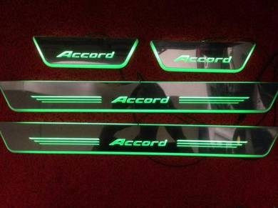 Honda accord led side door step sill plate