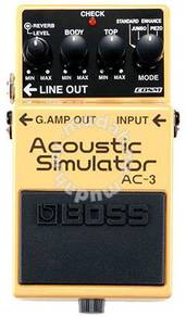 BOSS AC-3 Acoustic Simulator Pedal (FREE Cables)