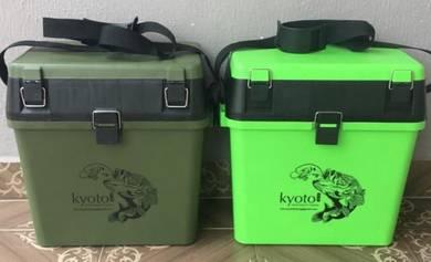 KYOTO JAPAN QUALITY TACKLE SEAT BOX Kotak Pancing