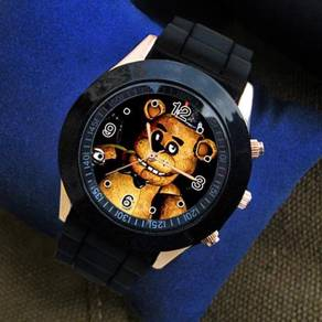 FNAF Five Nights At Freddy's black white watch