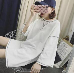 In-styles Hipster Ladies Fashion Round-neck Loose