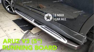 Perodua aruz v3 running board side step ( 5 inch )