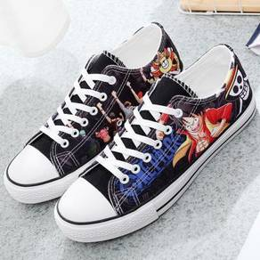 One piece kantai black rock shooter canvas shoes