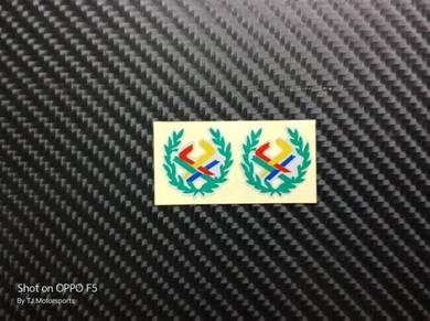 Stiker Pangkah Benetton Bunga Padi Plet