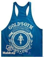 Gym Training Singlet (Blue - Gold Gym)