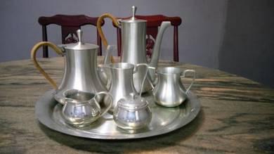 Antique Royal Selangor Pewter Tea Set
