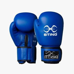 18RA Sting Competition Boxing Glove Leather -Blue