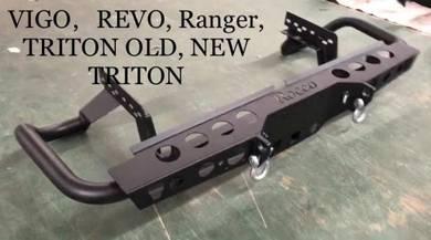 Ford ranger t7 t6 metal rear bumper bull bar 2
