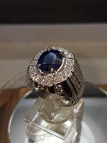 Royal Blue sapphire with Silver ring