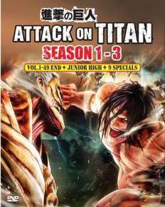 DVD ANIME Attack On Titan Season1-3 Vol.1-49End