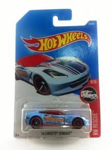 Hotwheels 2017 '14 Corvette Stingray #9 HWPD Blue