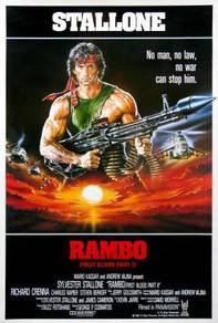 Poster movie rambo first blood part 2