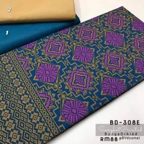 Kain Cotton Songket Printed BD-308E-1, 2
