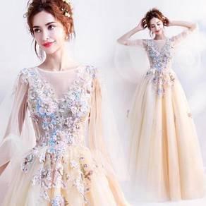 Yellow prom bridesmaid wedding gown dress RBP0787