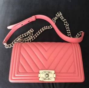 Chanel boy bags sling bag handbag beg tangan