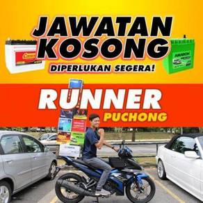 Pembantu kedai Technician Rider Runner Car Battery