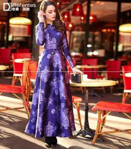 Long sleeve Muslimah elegant dress RBMWD0081
