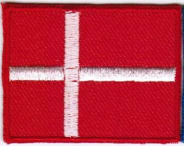 Flag Denmark Nation Emblem Badge Iron On Patch