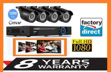 CCTV 4 CH /8CH FULLhd security + 8 years warranty