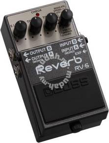 BOSS RV-6 - Reverb Guitar Pedal (FREE Cables)