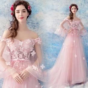 Pink prom bridesmaid wedding gown dress RBP0785