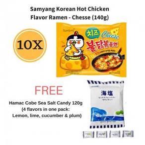 Samyang Ramen (Cheese) (10 x 140g) FREE Cobe Candy