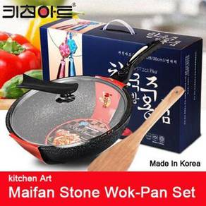 Non-stick Maifan Stone Cooking Wok Pan 30cm Korea