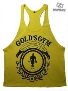 Gym Training Singlet (Flowery Gold yellow)