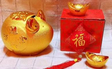 Gold Rat Coin Box